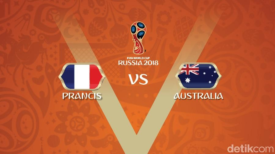 Live Report Piala Dunia 2018: Prancis vs Australia