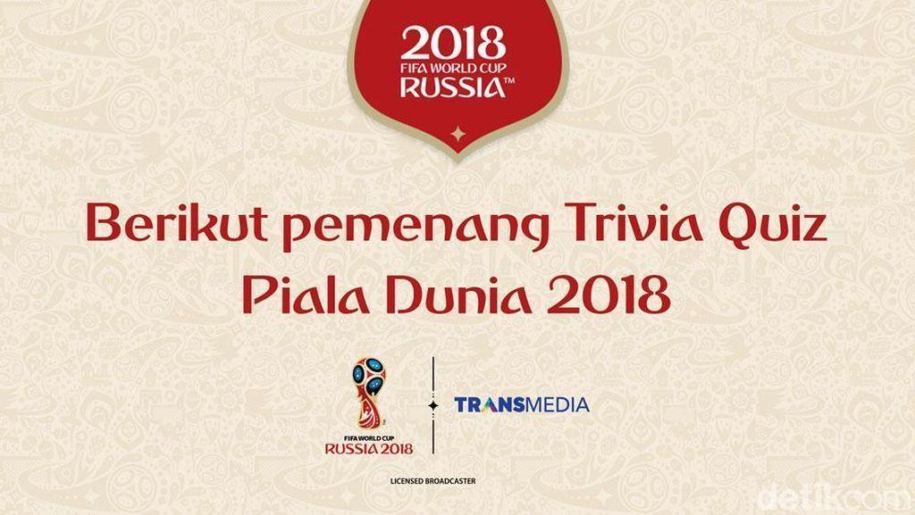 Ini Daftar Pemenang Trivia Quiz Piala Dunia 2018