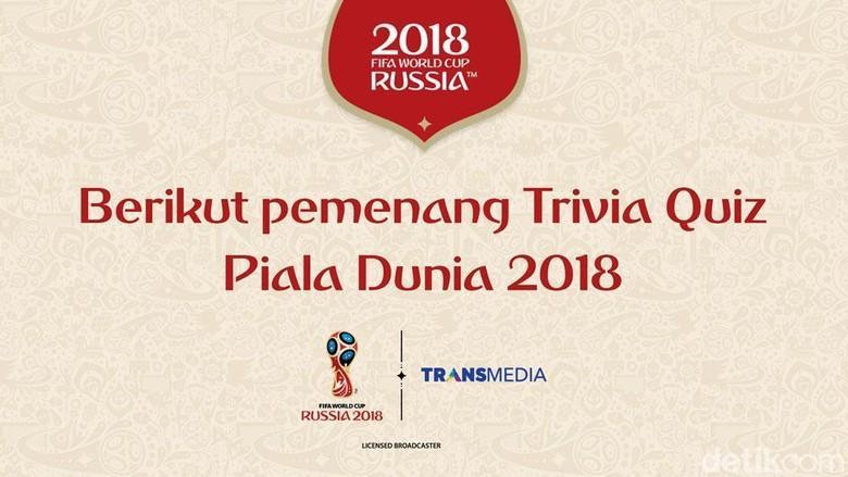 Ini Para Pemenang Trivia Quiz Piala Dunia 2018