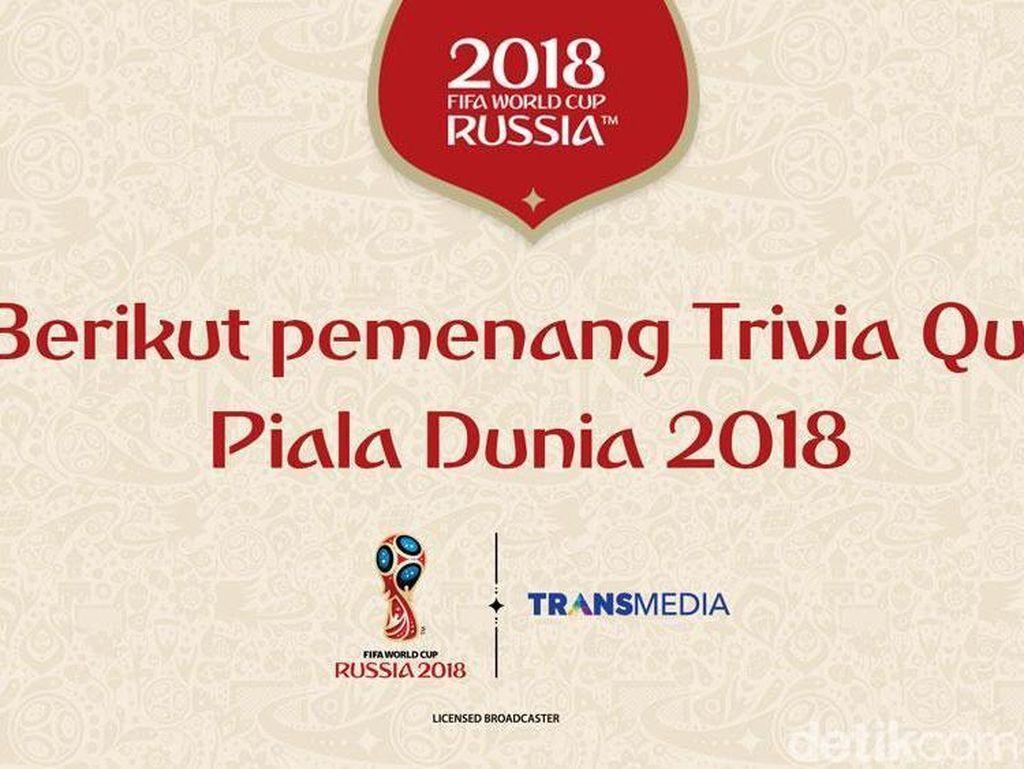 Daftar Pemenang Trivia Quiz Piala Dunia 2018