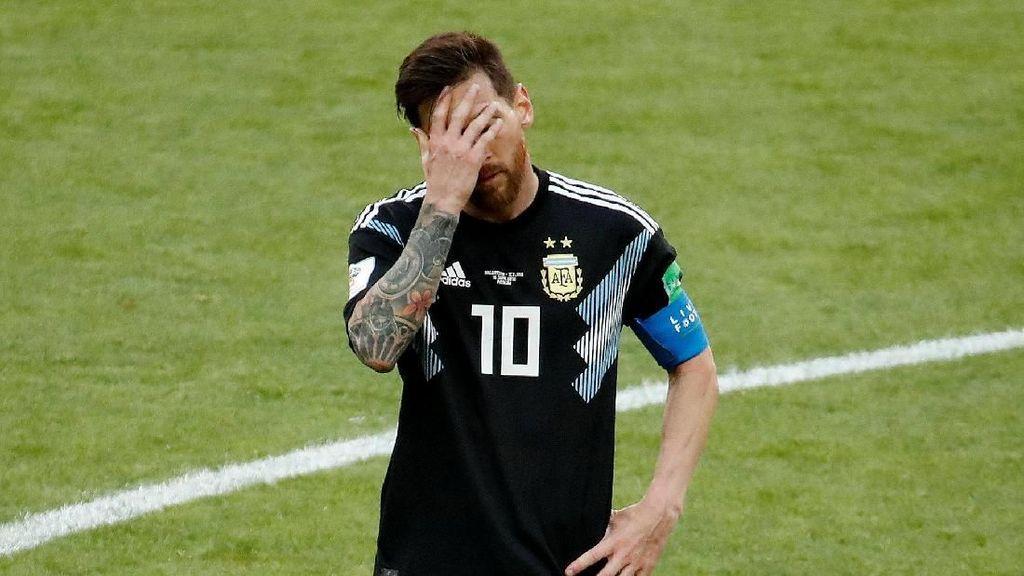 Wajah Lesu Lionel Messi Usai Argentina Diimbangi Islandia