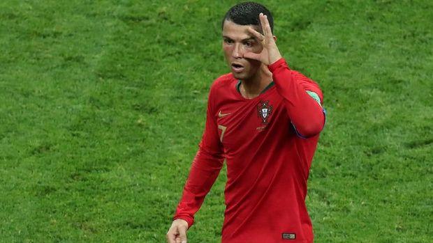 Cristiano Ronaldo bakal memperkokoh status top skor di Piala Dunia 2018 saat Portugal menghadapi Maroko. (