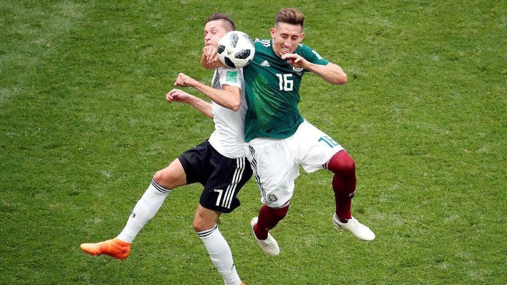 Babak I: Jerman Tertinggal 0-1 dari Meksiko
