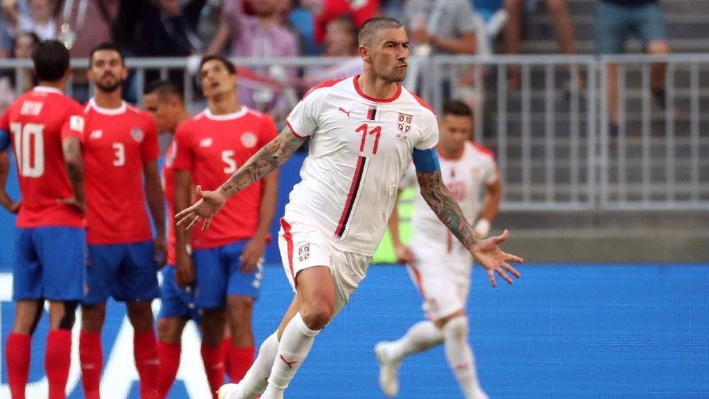 Gol Tunggal Kolarov Menangkan Serbia atas Kosta Rika