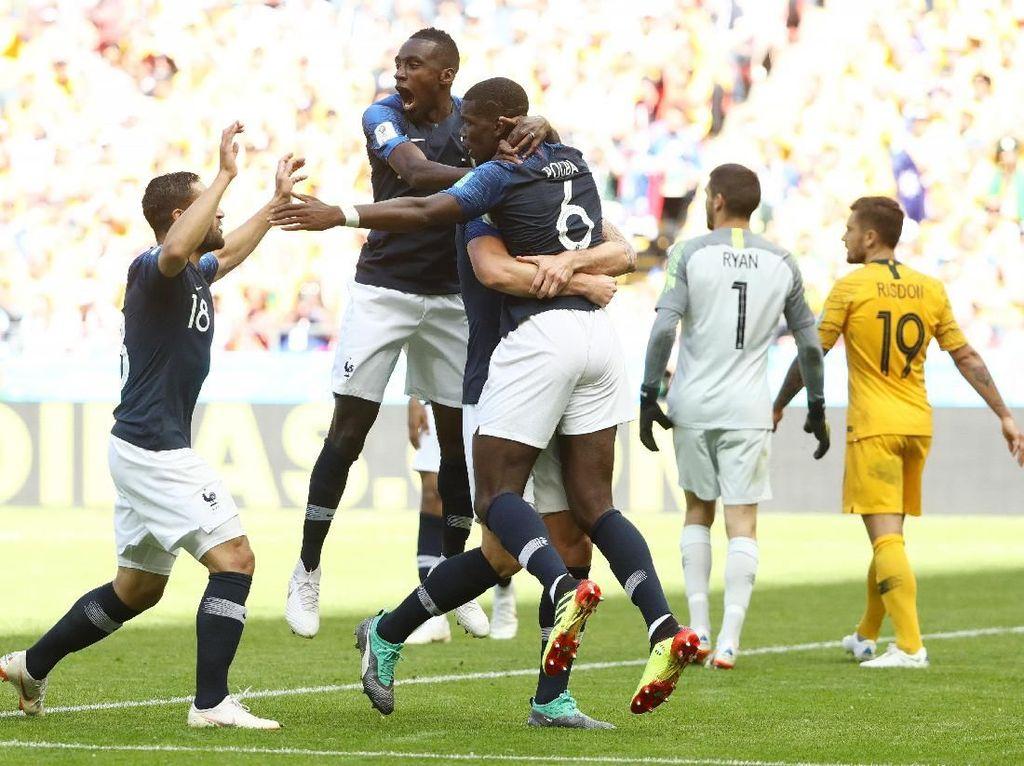 VAR dan Dua Penalti Warnai Prancis Vs Australia