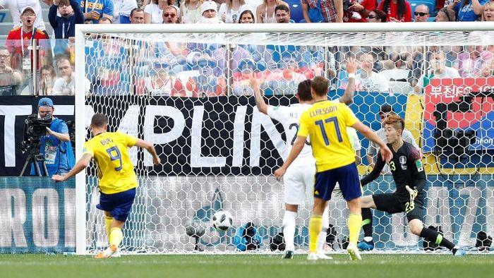 Swedia berimbang 0-0 dengan Korea Selatan di babak pertama. (Foto: Matthew Childs/Reuters)