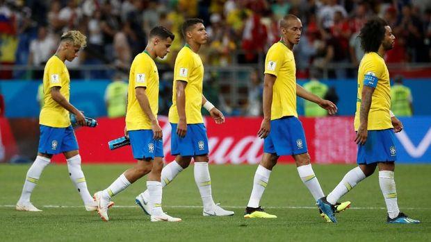 Timnas Brasil harus puas dengan hasil imbang lawan Swiss.
