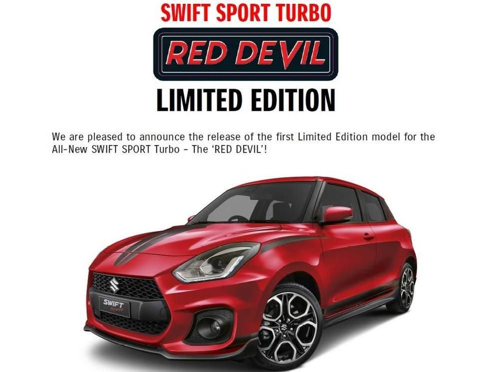 Suzuki Swift Sport Red Devil Cuma Dibikin 100 Unit