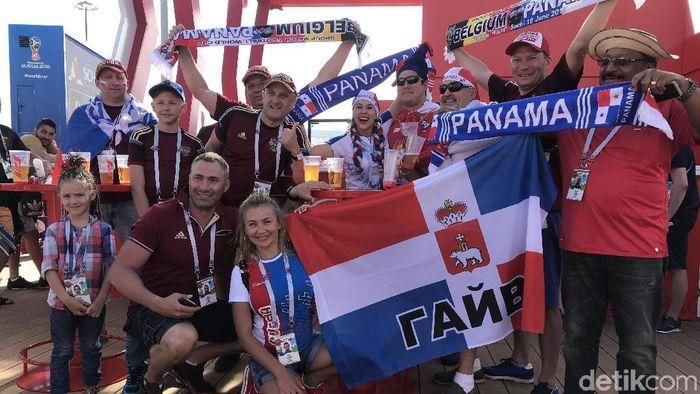 Fans Panama di Sochi, Rusia. (Foto: Mohamad Resha Pratama/DetikSport)