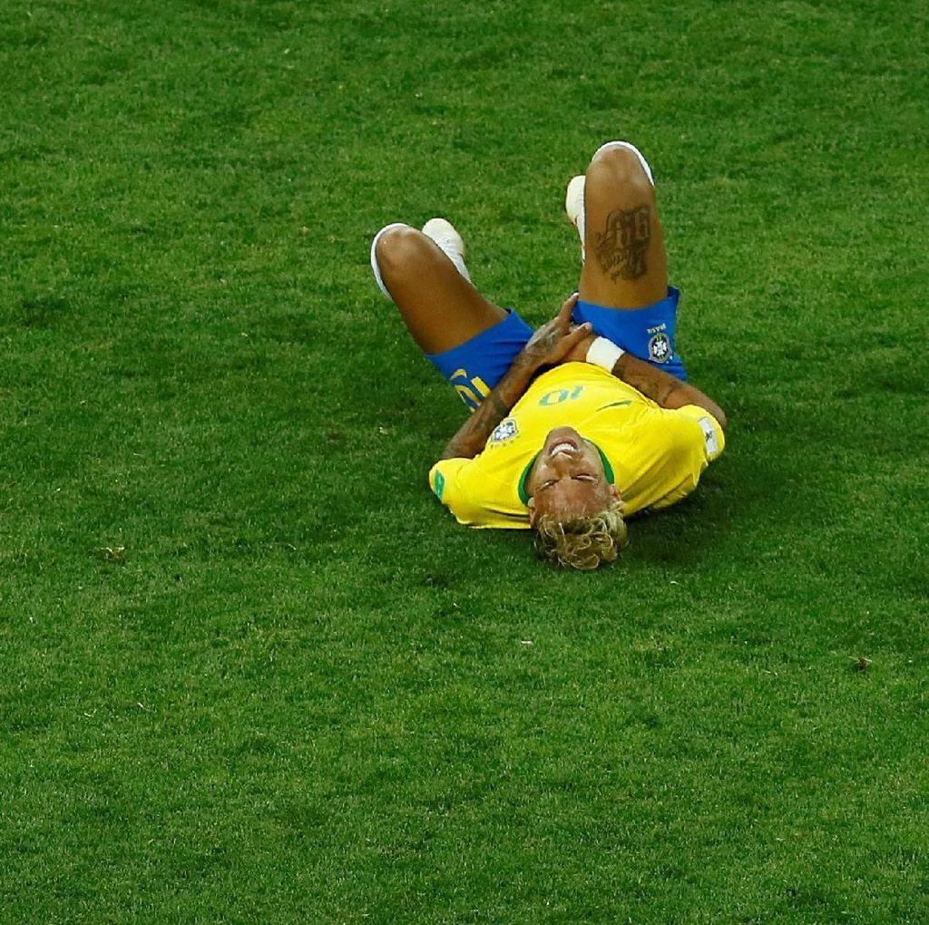 Setelah Dilanggar 10 Kali, Neymar Aben di Sesi Latihan Brasil