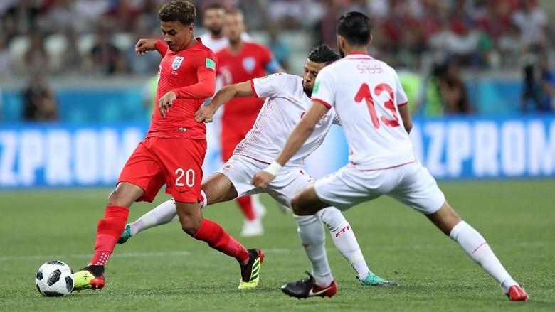 Babak 1: Inggris Diimbangi Tunisia 1-1