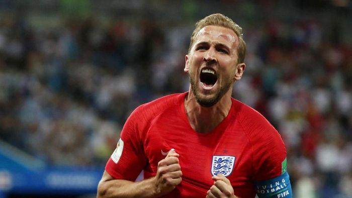 Harry Kane, kapten sekaligus pahlawan Inggris di laga pertama The Three Lions pada Piala Dunia 2018 (Reuters)