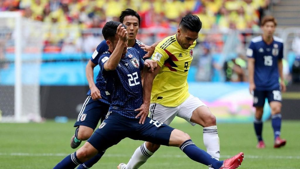 Kolombia vs Jepang Sama Kuat di Paruh Babak