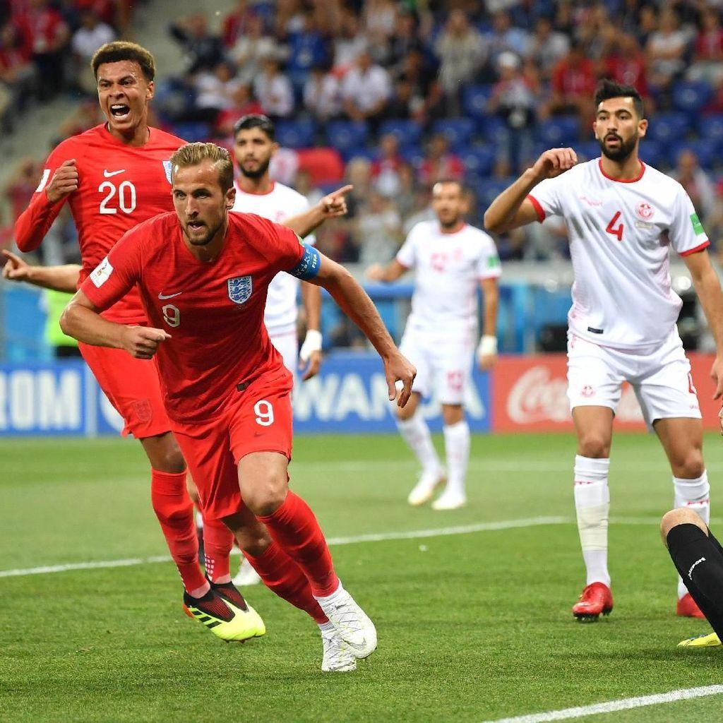Kane Dua Gol, Inggris Tekuk Tunisia 2-1