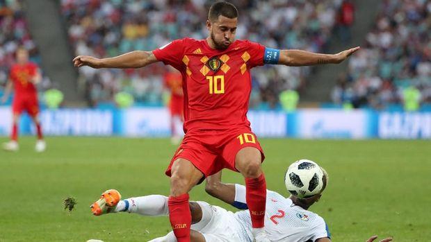 Eden Hazard akan kembali menjadi andalan lini depan Belgia saat melawan Tunisia.