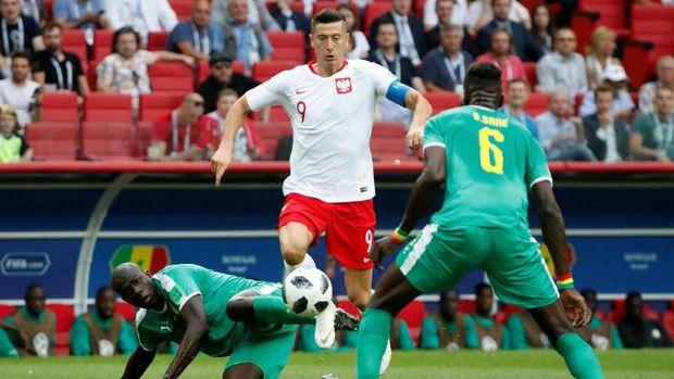Robert Lewandowski gagal mencetak gol di Piala Dunia 2018.