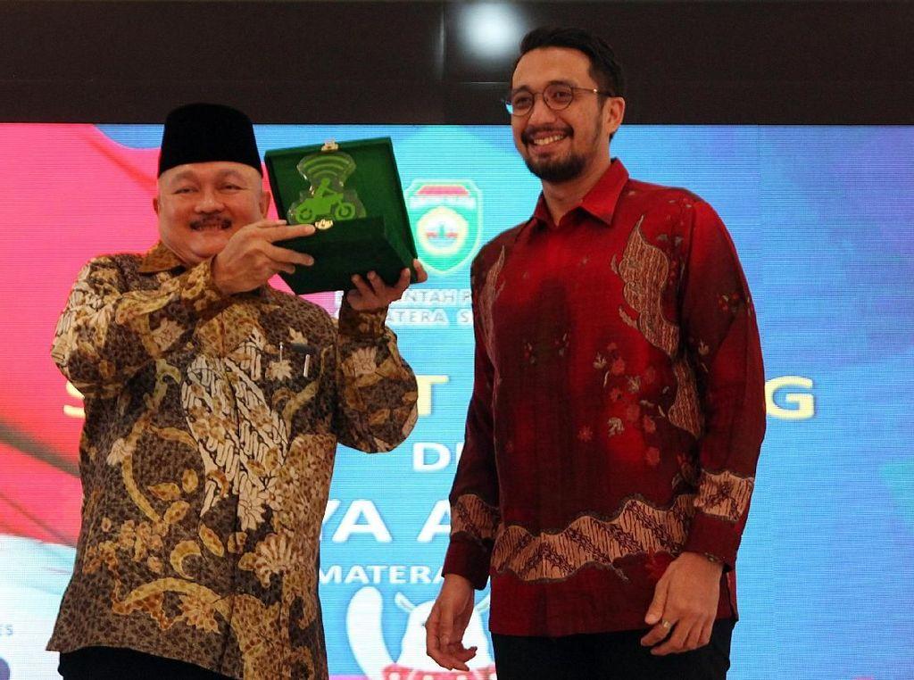 Silaturahmi Mitra Pengemudi Gojek di Palembang