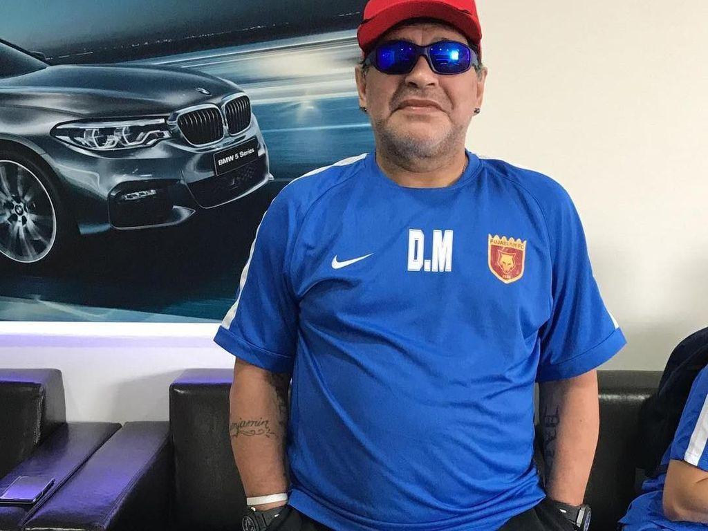 Tranformasi Diego Maradona, dari Berotot hingga Punya Perut Buncit