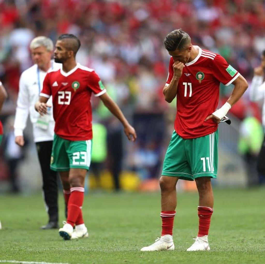 Maroko Tim Pertama yang Tersingkir dari Piala Dunia 2018