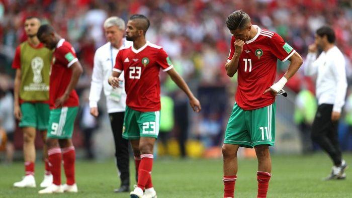 Maroko Tim Pertama yang Tersingkir di Piala Dunia 2018. (Foto: Michael Steele/Getty Images)