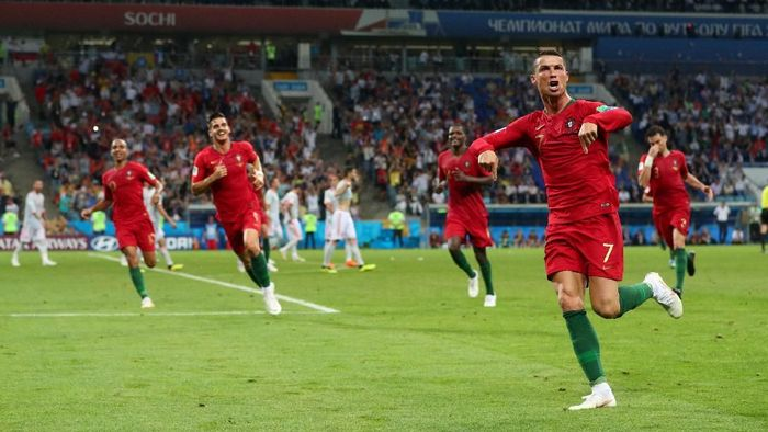 Portugal bermain imbang 3-3 dengan Spanyol pada pertandingan pertamanya di Piala Dunia 2018 (Foto: Hannah McKay/Reuters)