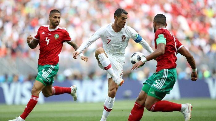 Salah satu laga Piala Dunia 2018, Portugal vs Maroko. (Foto: Carl Recine/Reuters)