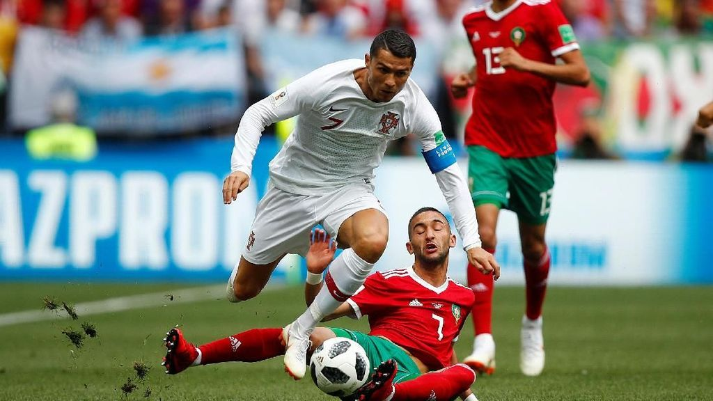 Gol Tunggal Ronaldo Menangkan Portugal atas Maroko