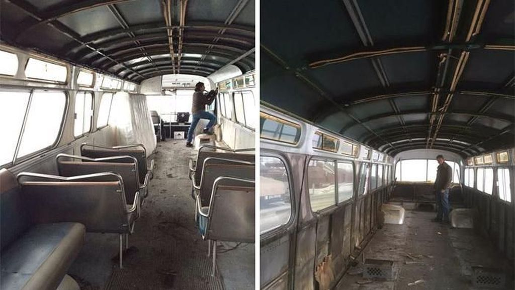 Keren Banget! Bus Karatan Dirombak Jadi Rumah Mungil Super Stylish