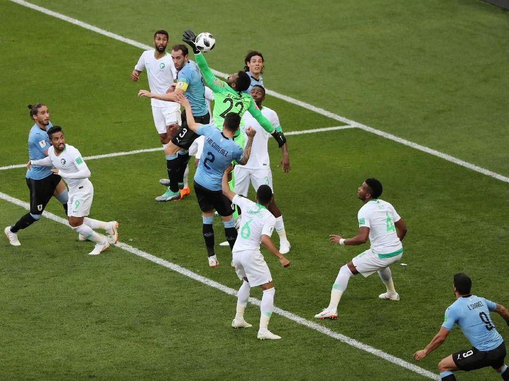 Uruguay Memimpin atas Arab Saudi 1-0 di Babak Pertama