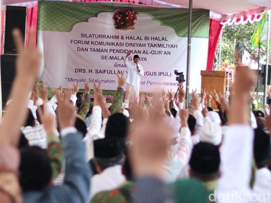 Di Malang, Gus Ipul Beri Penguatan Guru Lewat Upah Minimum Guru
