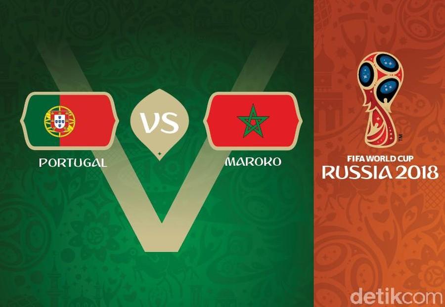 Live Report Piala Dunia 2018: Portugal vs Maroko