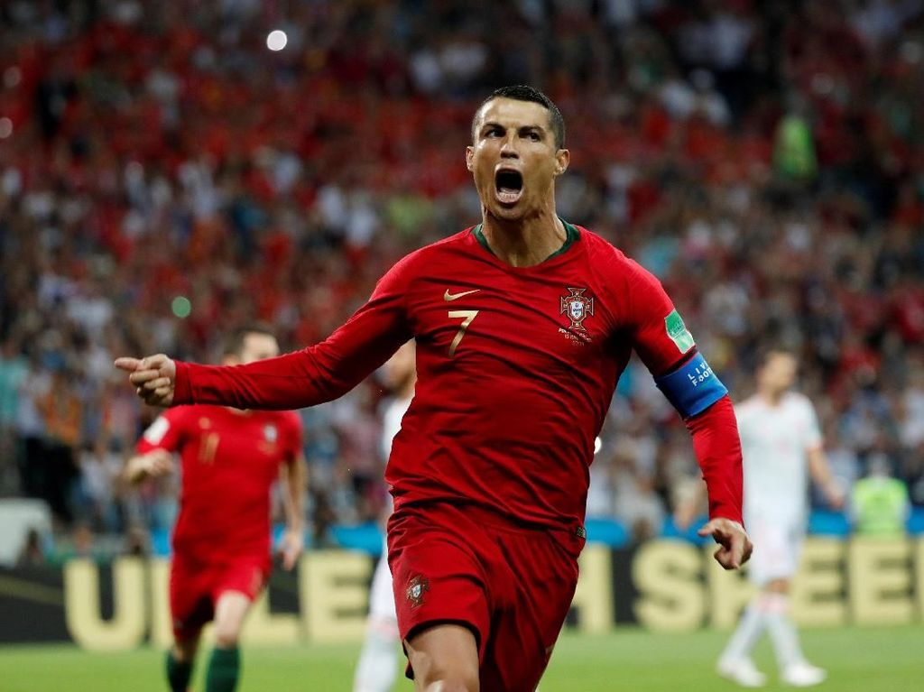 Nostalgia Trigol Cristiano Ronaldo Vs Spanyol di Piala Dunia