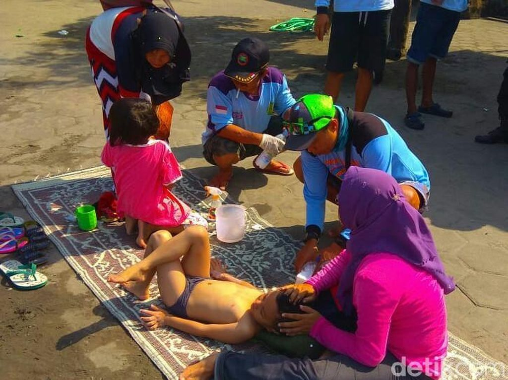 Puluhan Wisatawan Tersengat Ubur-ubur di Pantai Selatan DIY