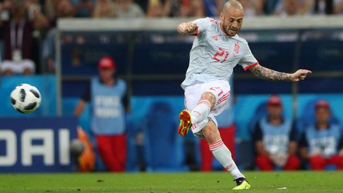 Aksi David Silva bersama timnas Spanyol di Piala Dunia 2018 (Foto: Hannah McKay/Reuters)
