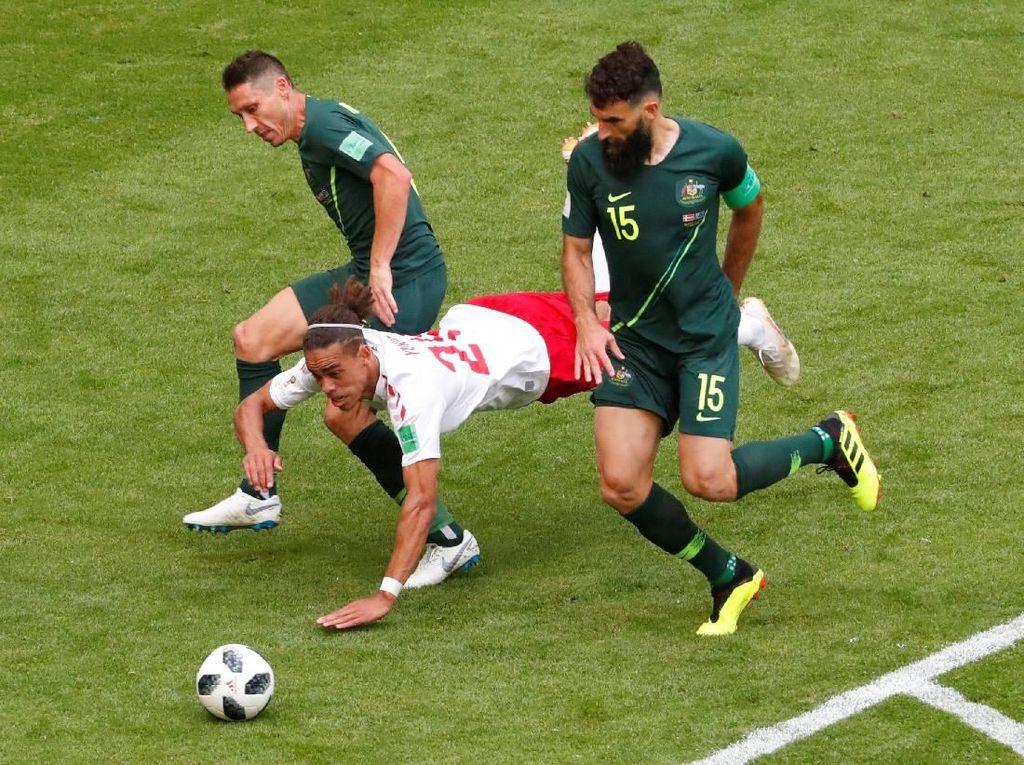 Denmark vs Australia Berakhir Imbang 1-1