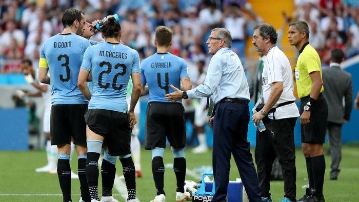 Uruguay mengalahkan Arab Saudi 1-0 untuk lolos ke babak 16 besar Piala Dunia 2018. (Foto: Marko Djurica/Reuters)