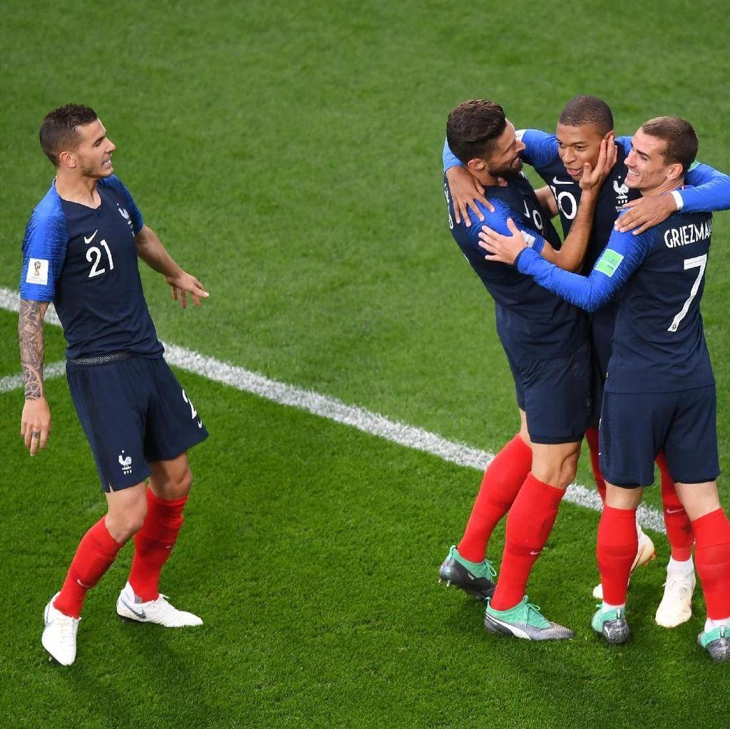 Prancis Lolos Lewat Laga yang Tak Mudah