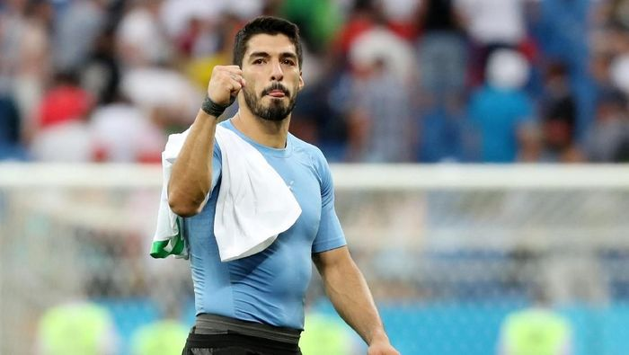 Luis Suarez menjadi bintang kemenangan Uruguay atas Arab Saudi. (Foto: Marko Djurica/Reuters)