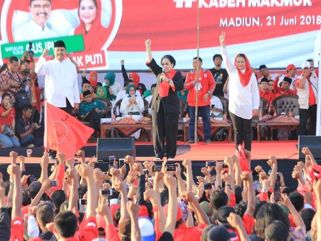 Kampanye Gus Ipul-Puti, Megawati: Jangan Pilih yang Haus Kuasa