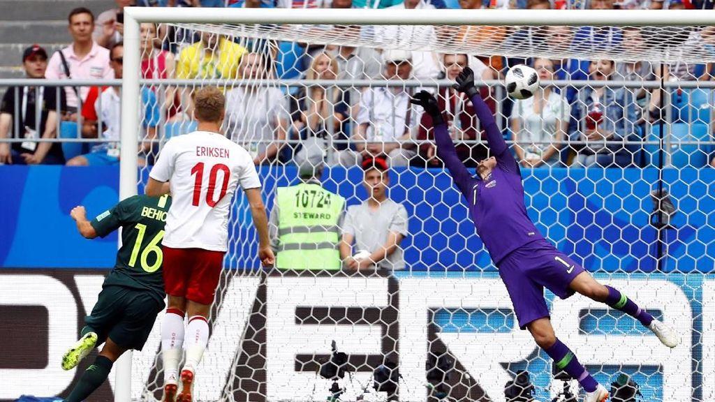 Denmark vs Australia Sama Kuat di Babak Pertama