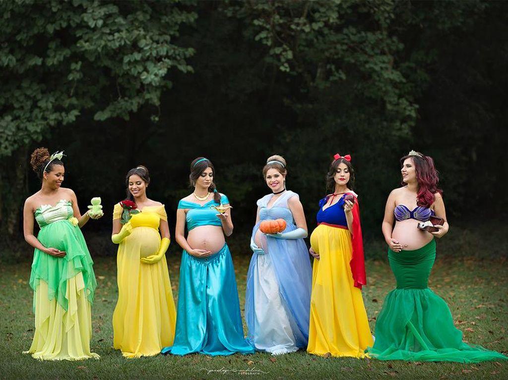Cantik Banget! Ketika Ibu Hamil Jadi Putri Disney