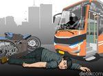 Pengendara Motor Tewas Tertabrak Mobil Boks di Bekasi