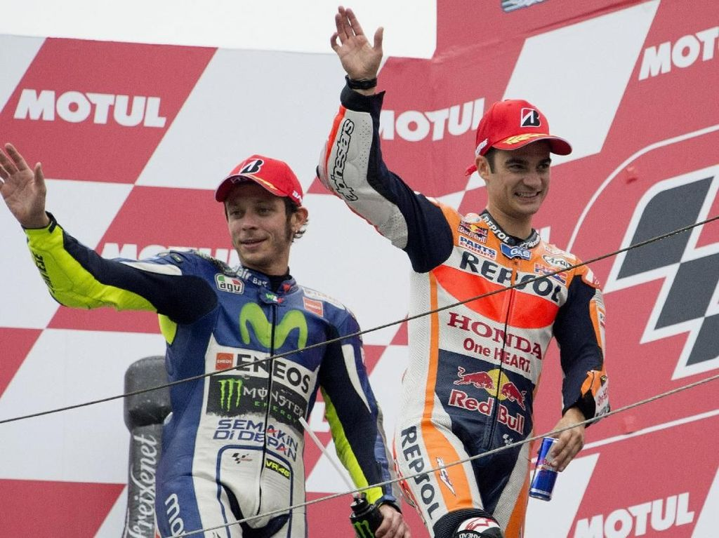Rossi: Teruslah Membalap, Pedrosa