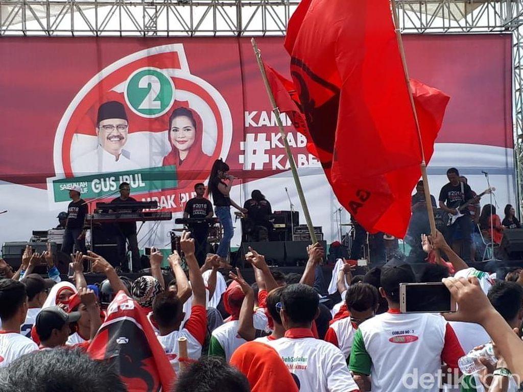 Dari Lokasi Kampanye, Gus Ipul-Puti: Selamat Ultah Pak Jokowi