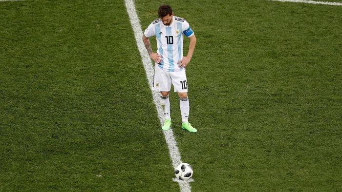Argentina dilibas Kroasia 0-3 pada pertandingan Grup D di Nizhny Novgorod Stadium, Nizhny Novgorod, Jumat (22/6/2018). Foto: Carlos Barria/Reuters