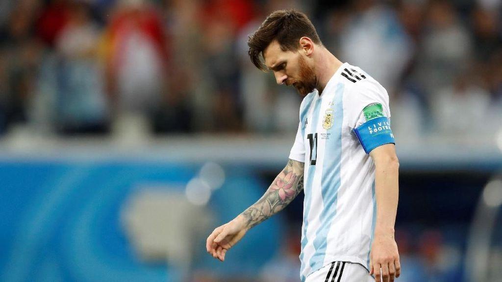 Foto: Argentina Babak Belur Dihajar Kroasia