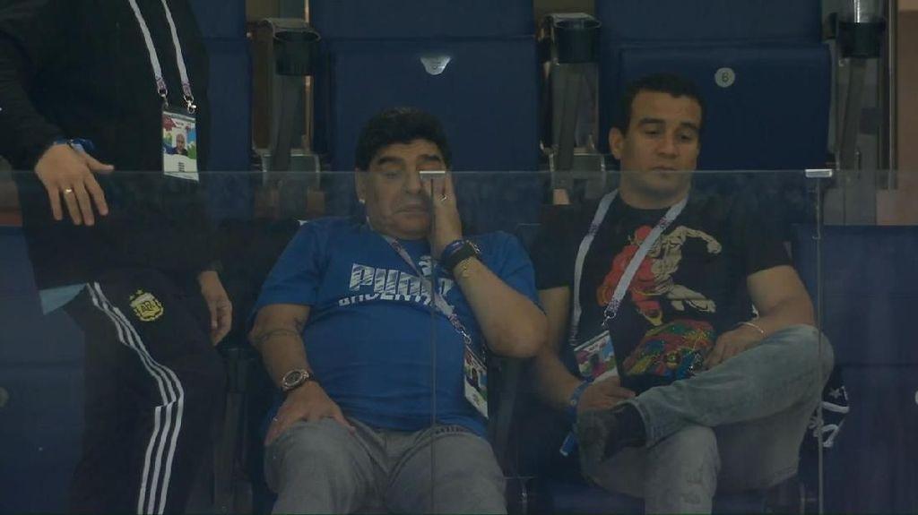 Air Mata Maradona di Balik Kekalahan Argentina