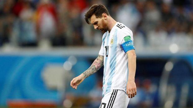 Lionel Messi main buruk saat Argentina dikalahkan Kroasia.