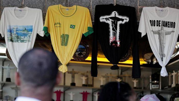 Ilustrasi pendukung timnas Brasil di Piala Dunia 2018. (Bruno Kelly/Reuters)