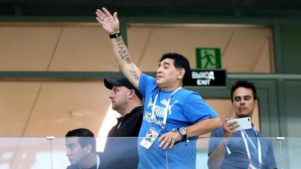 Maradona Menangis Lihat Argentina Dilumat Kroasia